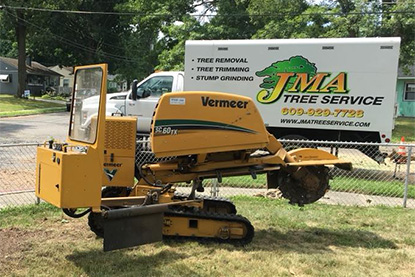 jma tree service stump grinding